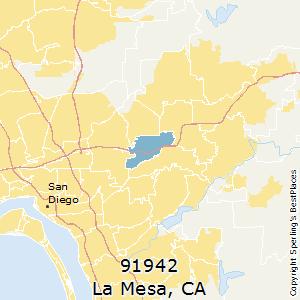 La Mesa Zip Code Map.Best Places To Live In La Mesa Zip 91942 California