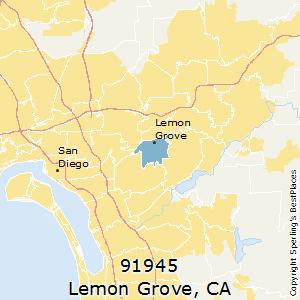 Lemon Grove Zip Code Map.Best Places To Live In Lemon Grove Zip 91945 California