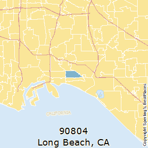 90804 Zip Code Map.Best Places To Live In Long Beach Zip 90804 California