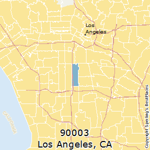 Los_Angeles,California(90003) Zip Code Map