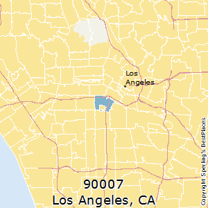 90007 Zip Code Map.Best Places To Live In Los Angeles Zip 90007 California