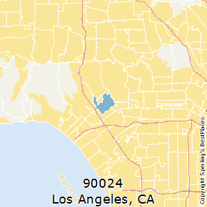 90024 Zip Code Map.Best Places To Live In Los Angeles Zip 90024 California