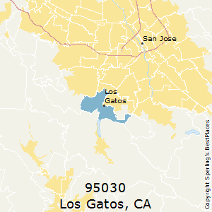 Los_Gatos,California County Map
