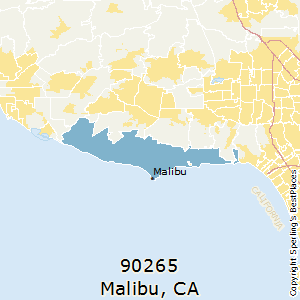 Malibu,California County Map