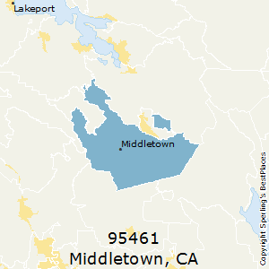 Middletown,California County Map