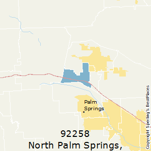 North_Palm_Springs,California County Map