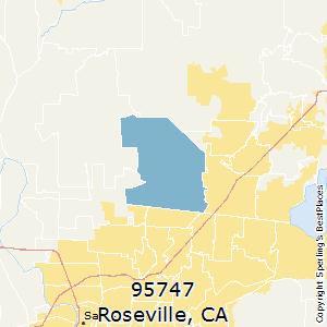 Roseville California Zip Code Map.Best Places To Live In Roseville Zip 95747 California
