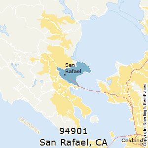 San_Rafael,California County Map