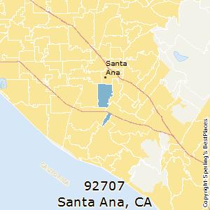 santa ana ca zip code map Best Places To Live In Santa Ana Zip 92707 California