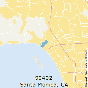 santa monica california zip code