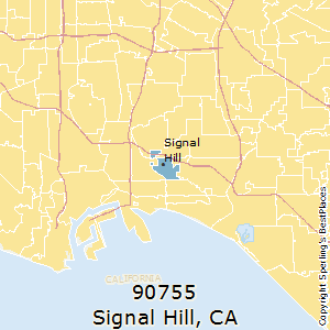Signal_Hill,California County Map