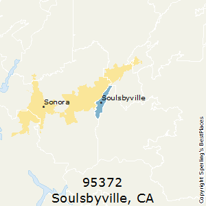 Soulsbyville,California County Map