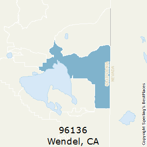 Wendel,California County Map