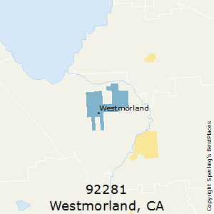 Westmorland,California County Map