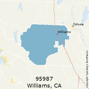 Williams,California County Map