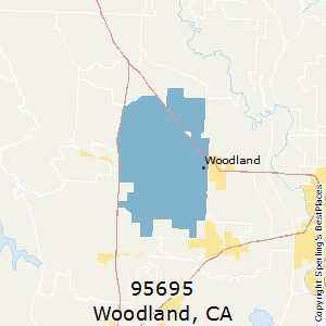 Woodland,California County Map