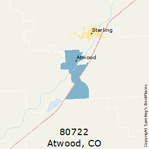 Atwood,Colorado County Map