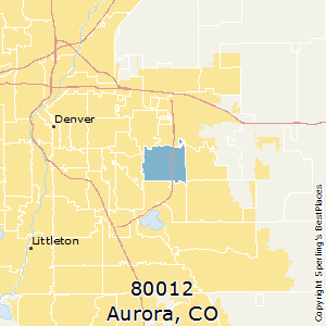 Aurora,Colorado(80012) Zip Code Map