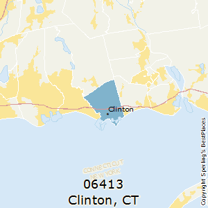Clinton,Connecticut County Map