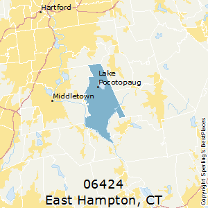 East_Hampton,Connecticut County Map