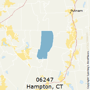 Hampton,Connecticut County Map