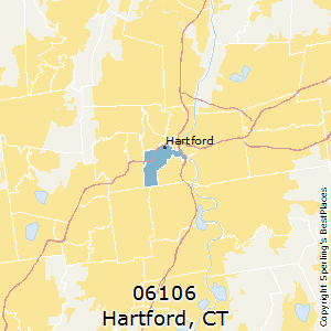 Hartford,Connecticut County Map