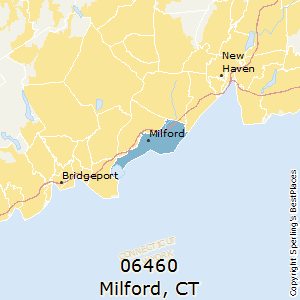 Milford,Connecticut County Map