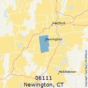 Newington,Connecticut County Map