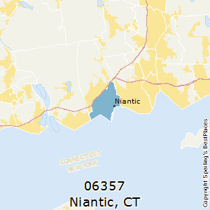 Niantic,Connecticut County Map