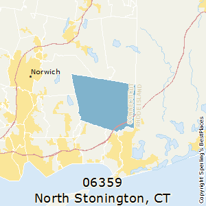 North_Stonington,Connecticut County Map