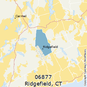 Ridgefield,Connecticut County Map