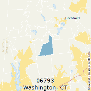 Washington,Connecticut County Map