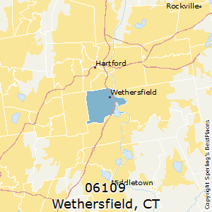 Wethersfield,Connecticut(06109) Zip Code Map