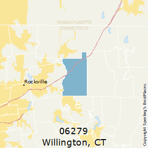 Willington,Connecticut County Map