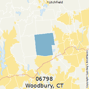 Woodbury,Connecticut County Map