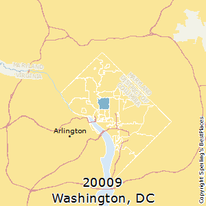 Washington,District of Columbia County Map
