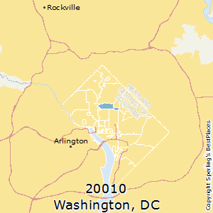 Washington,District of Columbia(20010) Zip Code Map