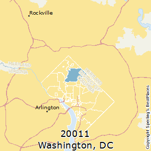 Washington,District of Columbia(20011) Zip Code Map