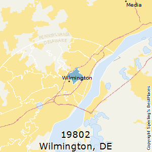 Wilmington,Delaware County Map