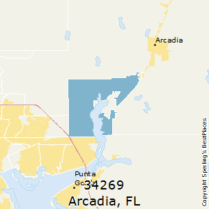Arcadia,Florida County Map