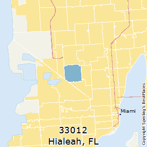 Hialeah,Florida County Map