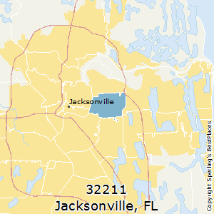 Jacksonville,Florida(32211) Zip Code Map