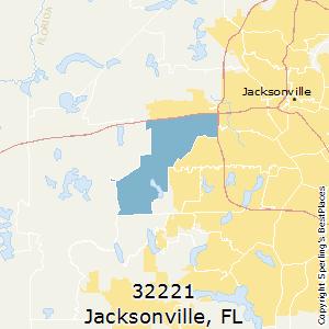 Jacksonville Florida Zip Code Map.Best Places To Live In Jacksonville Zip 32221 Florida