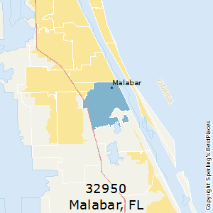 Malabar,Florida County Map