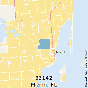 Miami,Florida(33142) Zip Code Map