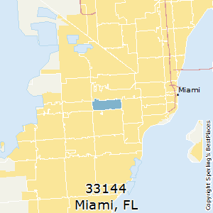 Miami,Florida(33144) Zip Code Map