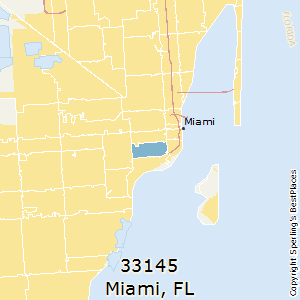 Miami,Florida(33145) Zip Code Map
