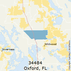 Oxford,Florida County Map