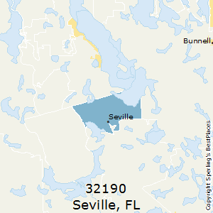 Seville,Florida County Map