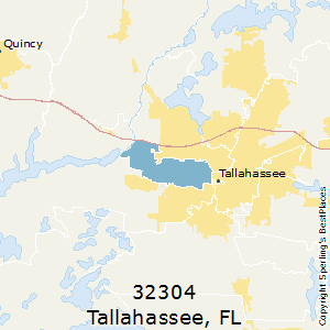 Tallahassee,Florida County Map